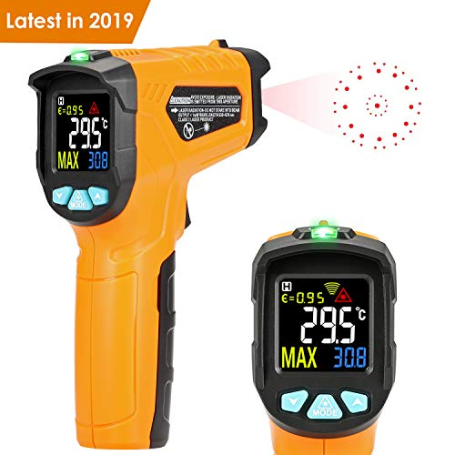 Termometro a infrarossi AD50 Termometro Digitale Laser Pistola Termometro Professionale -50°C a 600°C con sonda per cucina dolci forno ambiente interno industria e scienza LCD display