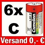 6 x BABY C LR14 AM2 MN1400 BATTERIEN - CAMELION PLUS ALKALINE