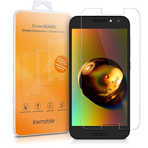 kwmobile Alcatel A3 Folie - Glas Handy Schutzfolie für Alcatel A3 - Full Screen Bildschirm Schutz