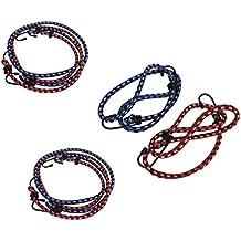 60-80-100cm Spanngummi Gepäckgummi Spanngurt Gepäckbänder mit Metallhaken 9 tlg