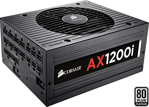 Corsair AX1200i PC-Netzteil (Voll-Modulares Kabelmanagement, 80 Plus Platinum, 1200 Watt, Digital, EU)