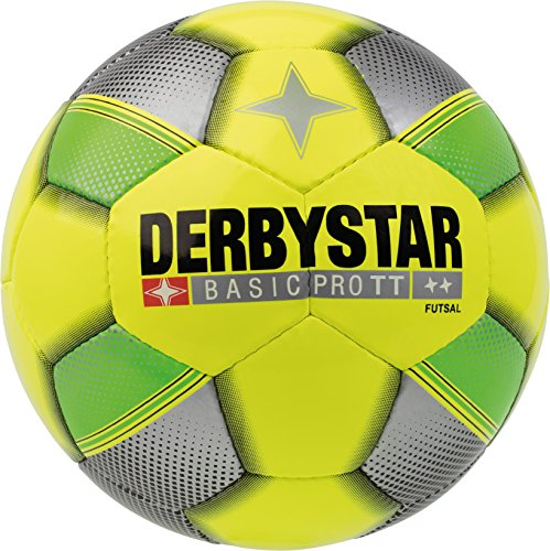 Derby Star Adultos Basic Pro TT Sala, Amarillo Verde Plata, 4