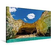 Calvendo Premium Textil-Leinwand 75 cm x 50 cm Quer, Ein Motiv aus Dem Kalender BENAGIL Cave Portugal Algarve | Wandbild, Bild auf Keilrahmen, Fertigbild auf Echter Leinwand, Leinwanddruck Orte Orte