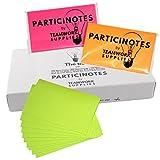 Neon Super Sticky Notes Set für Gruppenarbeit 127 x 76mm Mit EasyShare Funktion für Professionellen Einsatz im Training, Coaching und Scrum Retrospektive 900 bunte Haftnotizen in Rot Grün Orange PARTICINOTES TheBOX