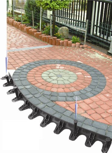Rasenkante Pflasterkante Rasenbord Baumring 1 m incl. 10 Nägel PP45