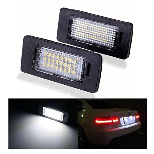 Preisvergleich Produktbild LOWELLTEK Auto LED Kennzeichenbeleuchtung Nummernschilder Licht A4 / S4 / RS4 / A5 / A6 (black)