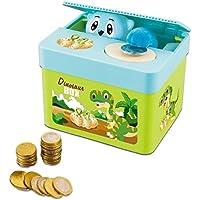 deAO Ladrón de Monedas Adorable Hucha Electrónica Infantil Caja de Ahorros Divertida Alcancía ...