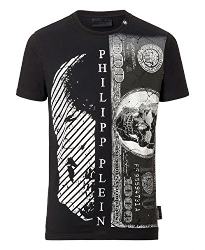 Philipp plein kent mtk1281 02 maglietta nero black uomo