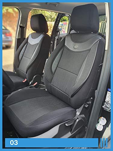 Maß Sitzbezüge kompatibel mit Honda HR-V 2 Gen. Fahrer & Beifahrer ab BJ 2015 Farbnummer: 03