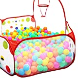 Bluester Pop up Hexagon Polka Dot Children Ball Play Pool Tent Carry Tote Toy