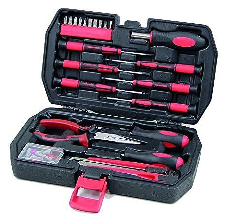 Kompakter & kleiner Werkzeugkoffer bestückt mit Schraubenzieher-Set. Kleines Werkzeug-Set mit Werkzeug für Outdoor, Camping, Wohnwagen & Boot. Robuste & handliche Mini-Werkzeugkiste