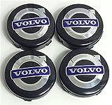 badgedirect 4Stück Cache Nabe Volvo für Modelle C70S60, V60V70, S80XC90Schwarz/Blau 64mm
