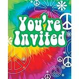 PARTY DISCOUNT Einladungen Peace, 10x12 cm, 6 Stück