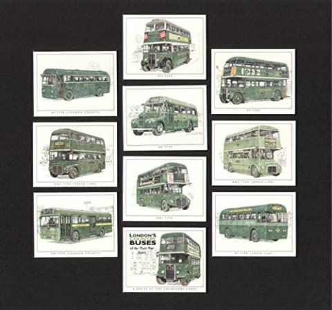London Country Buses of the Post-War Years - Routemaster, Green Line - Collectors Cards