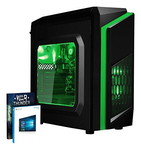 Vibox FX 35 Desktop PC da Gaming, Processore AMD A10 7860K, 3.6 GHz, HDD da 1 TB, 8 GB di RAM, Scheda Grafica Integrata, Verde