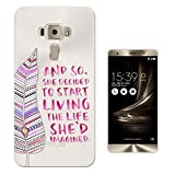 c01390 - Live Your Life Quote Pink Feather Design Asus