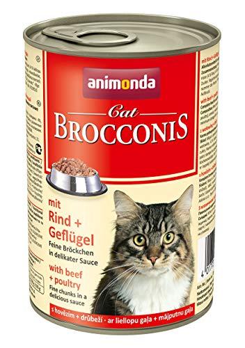 Animonda Brocconis Katzenfutter mit Rind + Geflügel, 12er Pack (12 x 400 - Nass 400 Katzenfutter Gramm