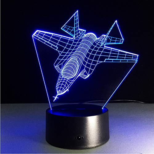 Nachtlicht Optical Illusion Lamp Ändern Kämpfer Sammlerstück Charizard 3D Led Tisch Schreibtischlampe Cartoon Figur Kinder Nachttischlampe Lampen Usb 7 Farbe (Traktor Sammlerstücke)