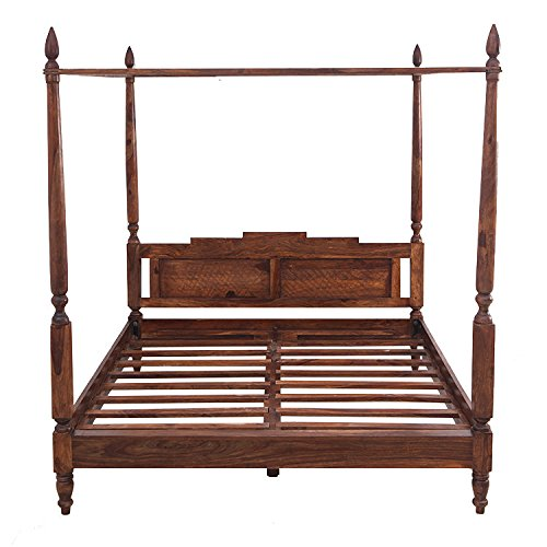 Home by Shekhawati Poster SHC-147D Double Size Bed (Light Walnut)