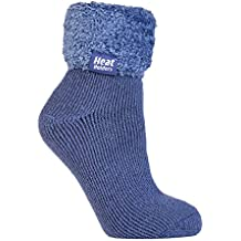 Heat Holders - Mujer Invierno Cómodo Confortables Durable Térmico Diseño Caliente Fantasia Colores Gruesa Calcetines para