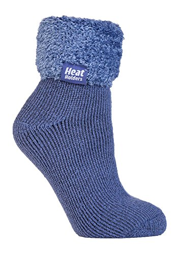 Heat HoldersThermo-Socken für Frauen, extra weich und flauschig, rutschfest, knöchelhoch Gr. Medium, HHL02 - Stricken Lounge-set