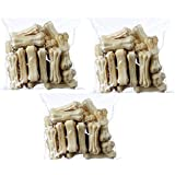 Pets Empire Rawhide Pressed Chew Dog Bone 3 inches 1 Kg Mega Pack of 3