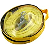 4.5M CORDE CABLE SANGLE DE REMORQUAGE 5 TONNES 45MM AUTO VOITURE 4X4
