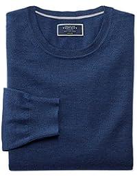 Mid Blue Merino Wool Crew Neck Jumper by Charles Tyrwhitt
