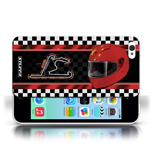 iCHOOSE Print Motif Coque de protection Case / Plastique manchon de telephone Coque pour Apple iPhone 5C / Collection F1 Piste Drapeau / AbuDhabi Chine/Shanghai