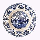QPGGP-Teller die Farbe blau verglasten besteck, Geschirr, Geschirr, Flache Teller Suppe Essen, Fisch schüssel schüssel, Kaffee, UFO, teekanne,d