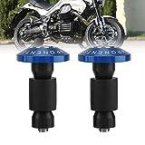 Tappi scorrevoli KIMISS Universal 1Pair per barre per moto per la maggior parte delle motociclette con manubrio diametro 22 mm (7/8 pollici). (Blu)