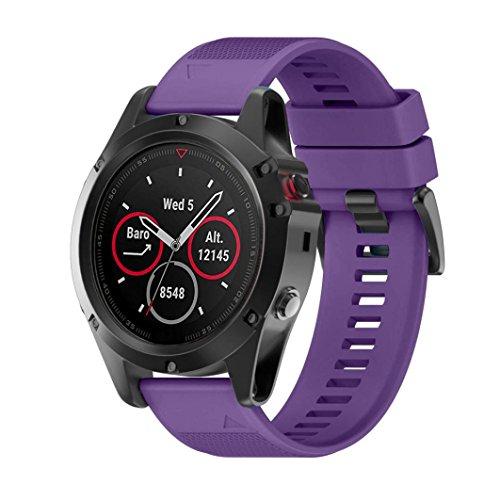 Correa de reloj OverDose correa de banda de kit de lanzamiento rápido para Garmin Fenix 5X GPS Watch (Púrpura)