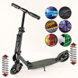 Hepros vollgefederter XXXL BigWheel Fully Scooter 200mm Cityroller anthrazit Farbauswahl Carbon