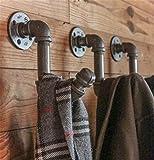 Eisenhaken Kleiderhaken Haken Badezimmer Haken Vintage Industrial American Land, Bronze, B