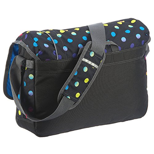 Coocazoo City and School Hang Dang Borsa a tracolla con scomparto per laptop 44 cm, hip to be a square blue lime district