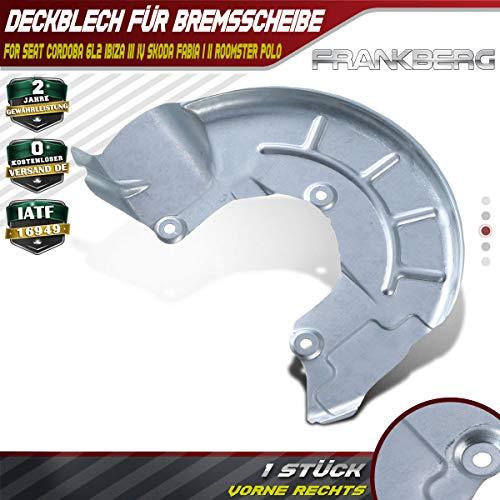 Deckblech Spritzblech Ankerblech Bremsscheibe Vorne Rechts für Fabia I II Ibiza III IV Cordoba 1999-2019 6R0615312