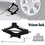 Vehicle Scissor Jack Lift 2 Ton (4400lb.) Capacity 105-385mm Universal Easy to Store