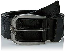 Peter England Mens Leather Belt (8907495896007_RL31791452_X-Large_Black)