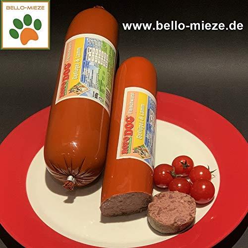 RopoDog Fleischwurst mit Geflügel + Lamm (6 x 800 gr. Würste)