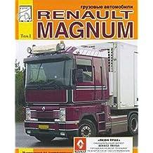 Gruzovye avtomobili Renault Magnum. Rukovodstvo po ekspluatatsii i tehnicheskomu obsluzhivaniyu, katalog detaley dvigateley