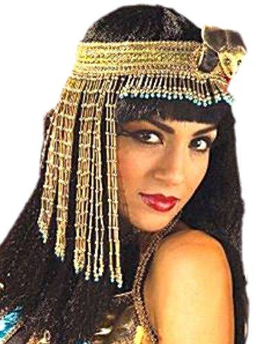 erdbeerclown - Damen Kleopatra Kopfbedeckung, Kostüm Zubehör, Karneval, (Army Girl Zubehör Kostüm)