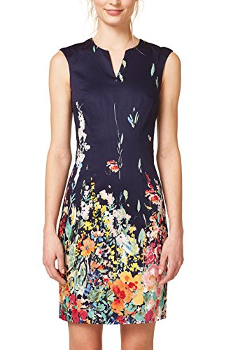 ESPRIT Collection Damen Kleid 048EO1E017, Blau (Navy 400), 38