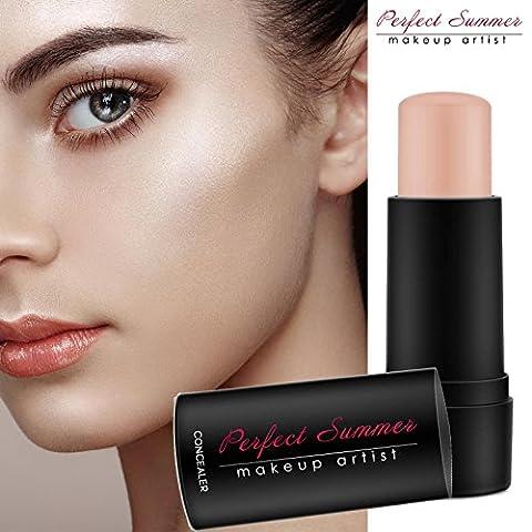 Face Makeup Concealer Stick Medium - Perfect Summer FT002 (2017 New Desgin) Mineral Eye Concealer Ivory Waterproof Makeup Long Lasting Shade 7g