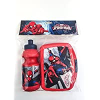 Preisvergleich für Spiderman Trinkflasche und Brotbox Set Lunchbox Marvel Brotzeitdose mit Flasche Pausenset 44220