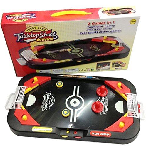 D-Mcark Kids Mini Air Hockey Soccer Table Games 2 in 1 for Family