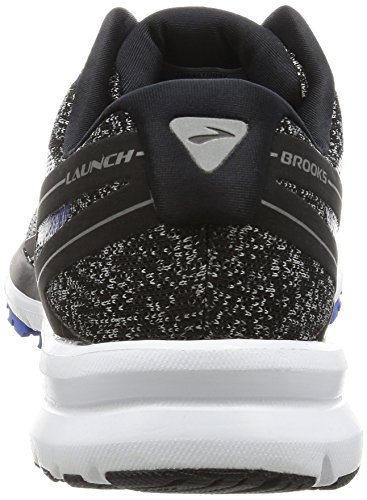 Brooks Launch 4, Scarpe da Ginnastica Uomo Nero (Black/Anthracite/Electric Blue)