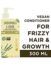 Nuray Naturals Vegan Frizzy & Chemically Damaged Hair Conditioner With Argan, Free From Parabens, Silicones & No MIneral Oils, 300 ml…