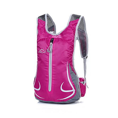 Unisex Mens Womens Day Backpacks MTB Bike Bicycle Rucksacks Running Hydration Packs (Rose)