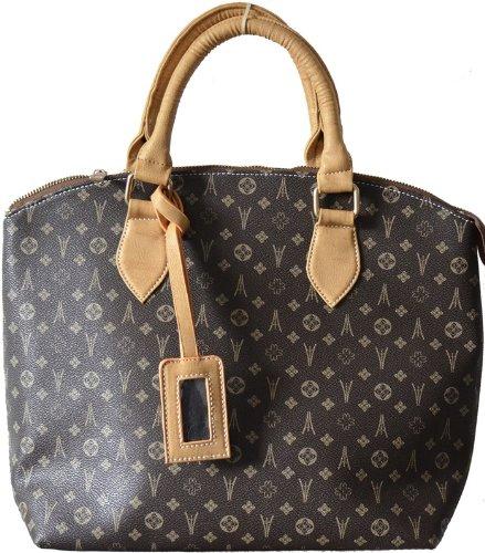 chloe-camel-designer-handbag-with-gold-metal-zippers-brown