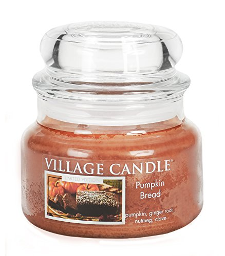 Village Candle Kürbisbrot Duftkerze, 312 g, Glas, Orange, 9.9 x 9.5 x 8.6 cm -